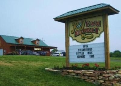Check the R&J Farm Market sign for the latest news and information!